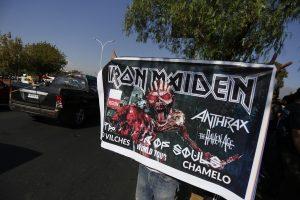 Iron Maiden encendió la noche metalera en el Nacional