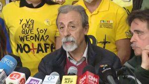 """Luis Mesina ante propuesta de pensiones de Alejandro Guillier: """"Parece que quiere perder"""""""