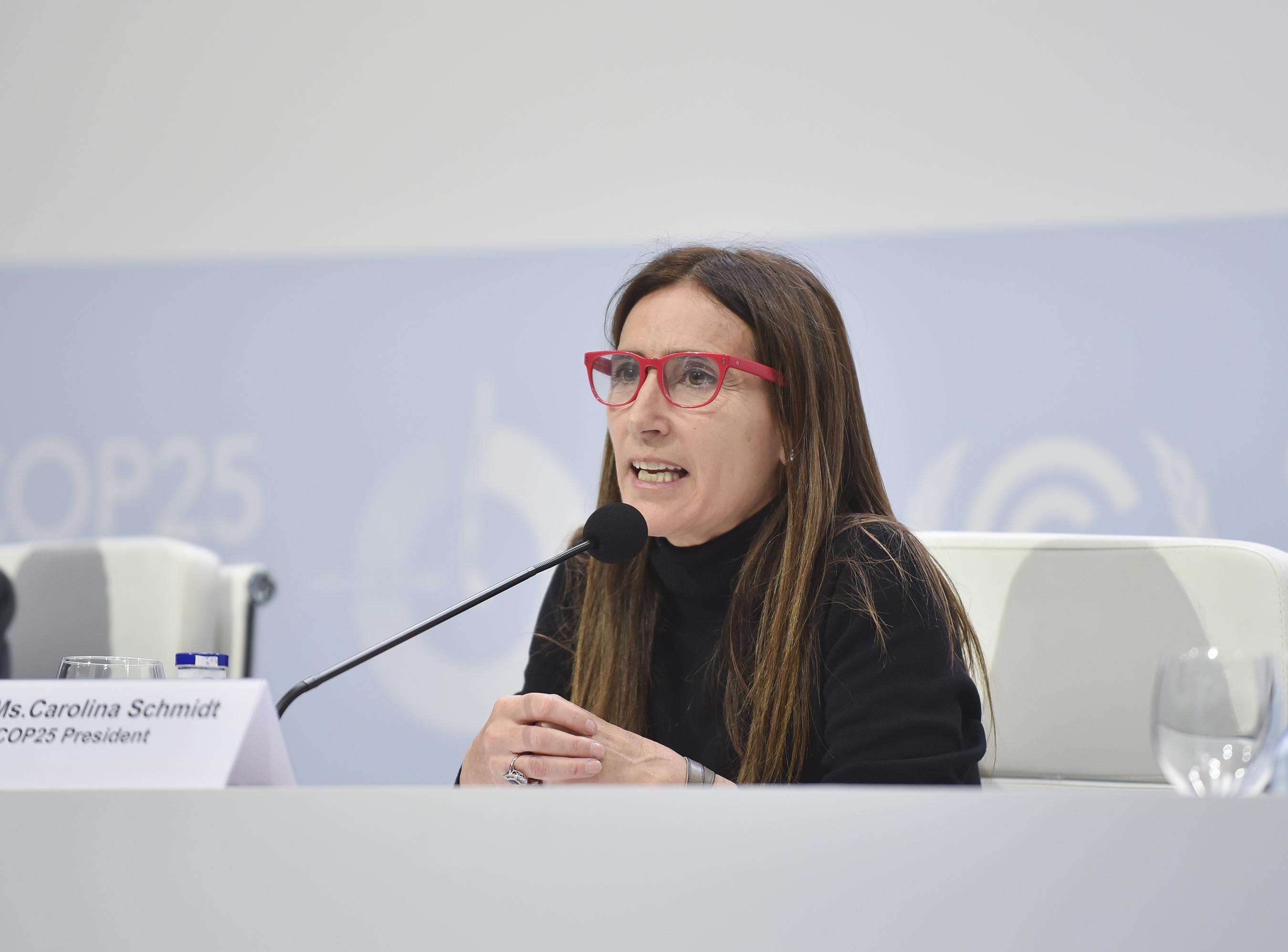 Carolina Schmidt, ministra del Medio Ambiente.