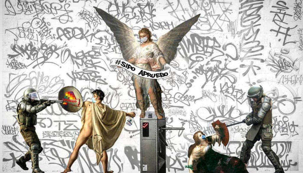 """Borrando el gris Pinochet: Artistas urbanos hablan de sus obras en torno al plebiscito y la """"Ley Sticker"""""""