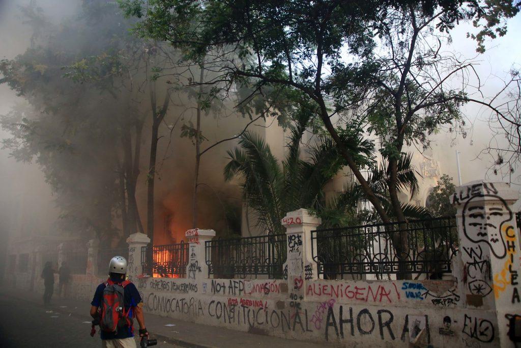 Estallido social: Declaran culpable de incendio frustrado a la UPV a joven de 20 años