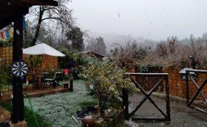 VIDEOS| Reportan caída de nieve en Lo Barnechea