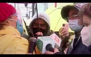 "VIDEO| ""Intendente, basta de tanta mentira"": Cathy Barriga increpa a Felipe Guevara por cajas de alimentos"