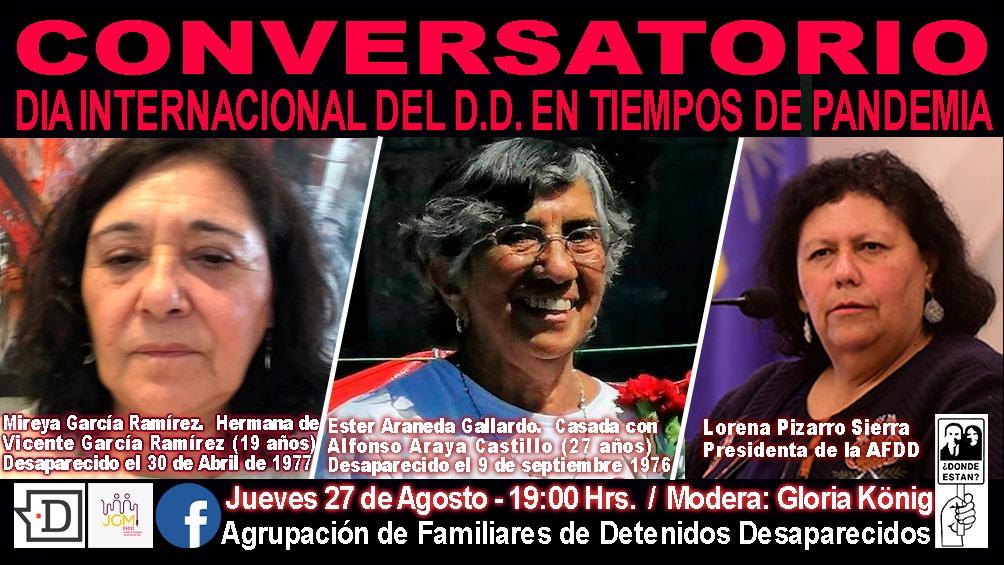«Día Internacional del Detenido Desaparecido en Tiempos de Pandemia»: Conversatorio será transmitido este jueves por El Desconcierto
