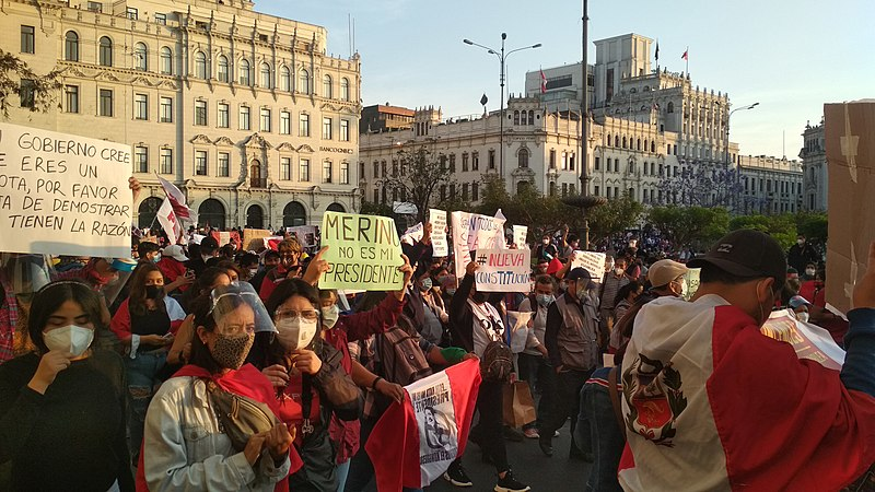 protestas jóvenes peruanos