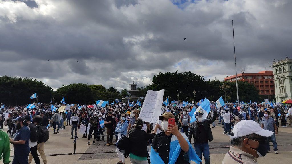 Protestas en Guatemala: Al menos dos manifestantes sufrieron traumas oculares