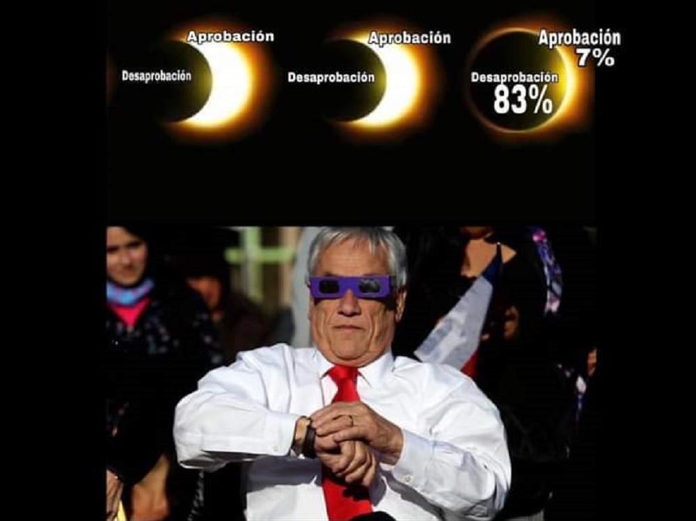Piñera y Colo Colo los más mencionados: Mira los graciosos memes que dejó el #Eclipse2020