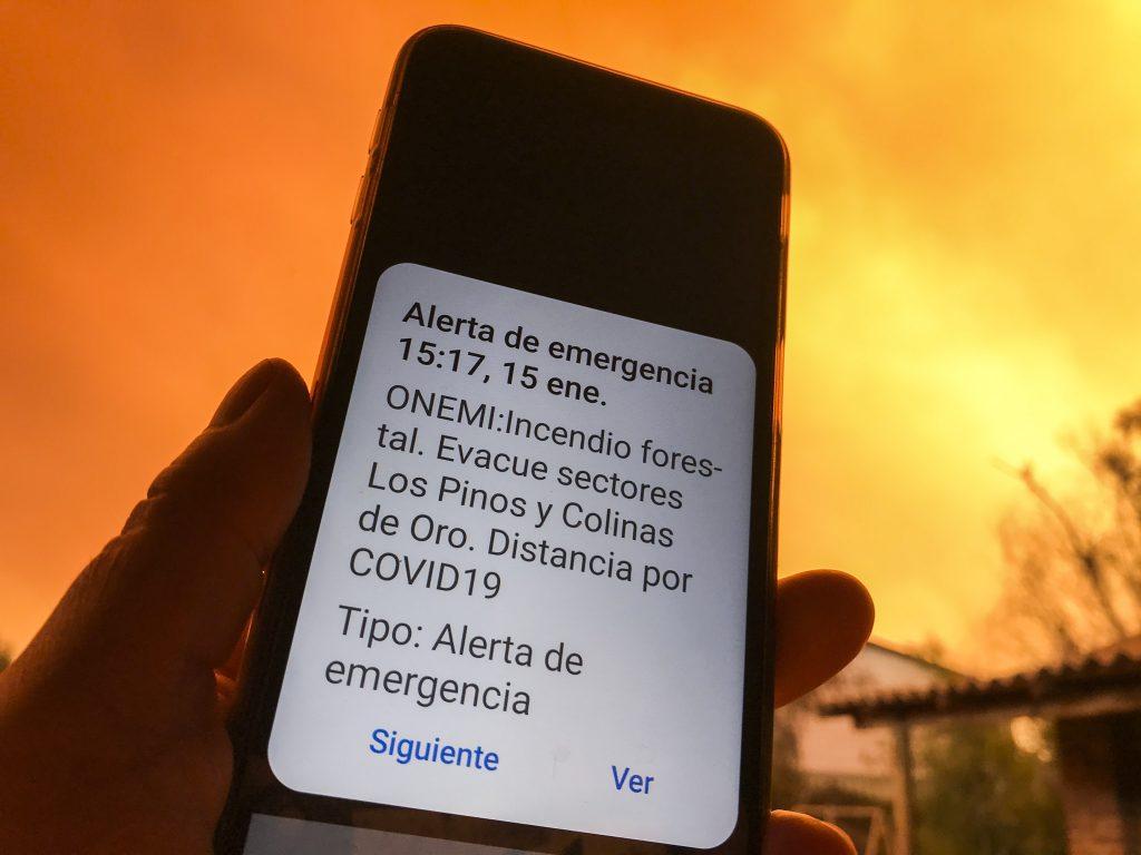 Incendio forestal: Las dramáticas imágenes que está dejando el siniestro en Quilpué