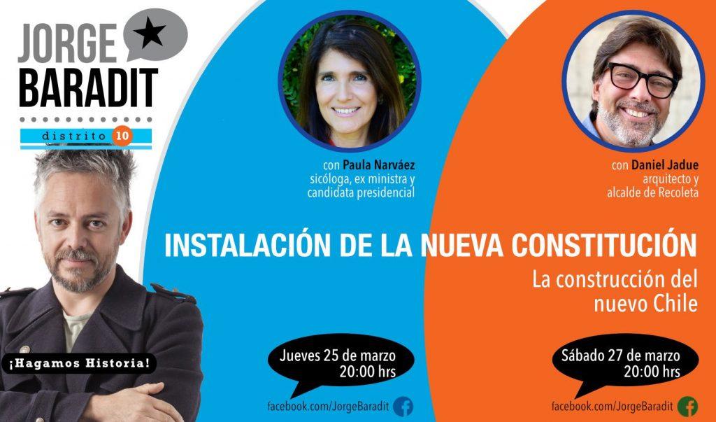 Baradit conversará con Narváez y Jadue sobre la nueva Constitución