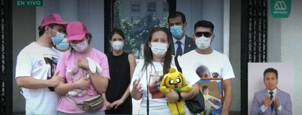 """Padres de Itan y Tamara se reunieron con Piñera: """"Llegamos a pedir justicia por nuestros niños"""""""