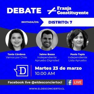 Revive un nuevo capítulo de Debate Constituyente con candidatos del Distrito 7