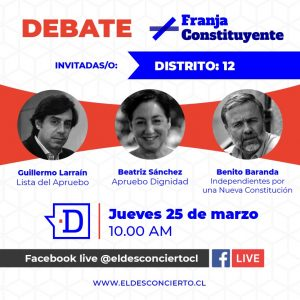 #DebateConstituyente: Revive un nuevo capítulo con los candidatos del Distrito 12