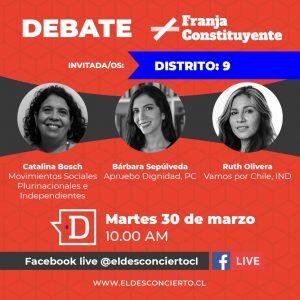 Revive un nuevo capítulo de Debate Constituyente con las candidatas por el Distrito 9