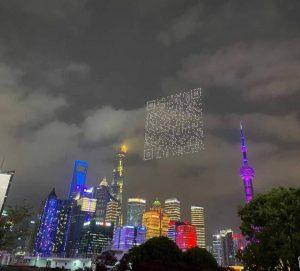 VIDEO   Shanghái: Drones proyectan código QR gigante para la descarga de videojuego