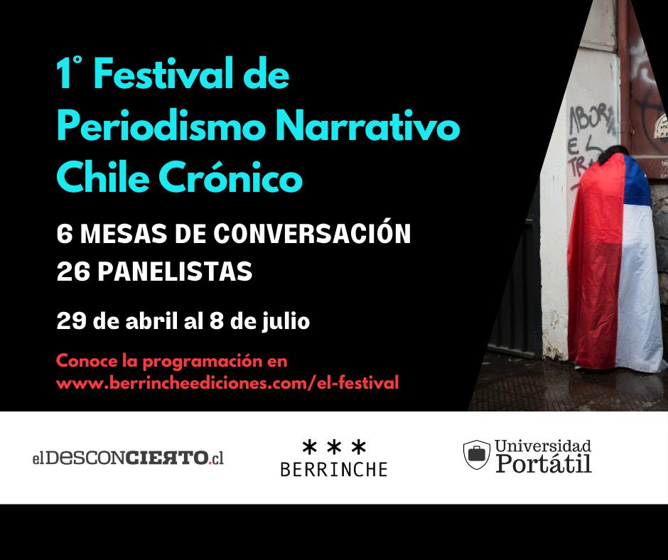 Nuevo festival de periodismo pone a autores chilenos a contar cómo escribieron sus historias