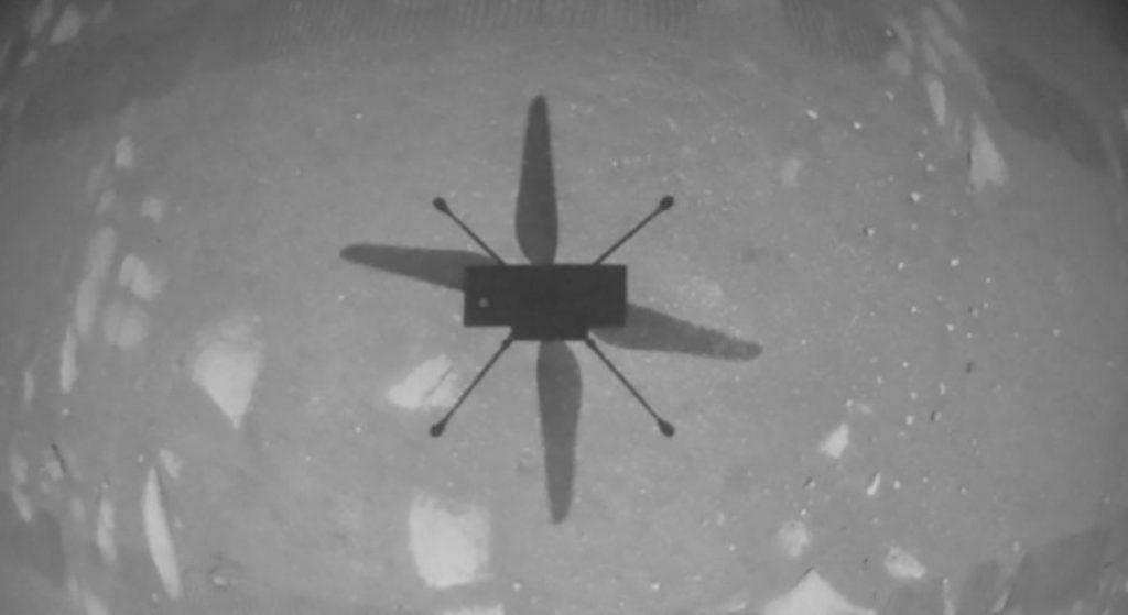 Histórico: El helicóptero Ingenuity vuela por primera vez en Marte