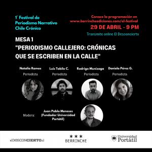Revive el primer capítulo del Festival de Periodismo Narrativo Chile Crónico
