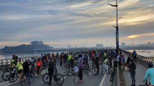 Concepción: Ciclistas se manifestaron en defensa del Santuario de Hualpén