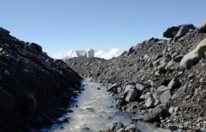 CONAF confirma intervención de curso de agua del glaciar en Reserva Nacional Mocho Choshuenco