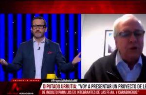 """VIDEO  """"Los valientes soldados salen arrancando"""": El fuerte cruce de Eduardo Fuentes con el diputado Ignacio Urrutia"""