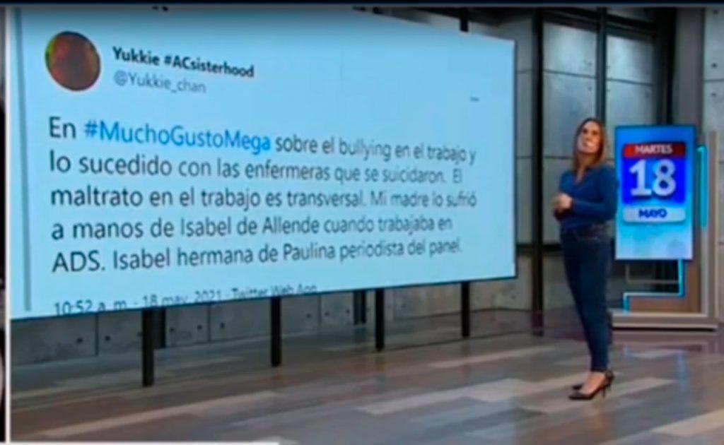 VIDEO| El incómodo momento de Paulina de Allende-Salazar: Lee en vivo tweet que acusaba a su hermana de bullying