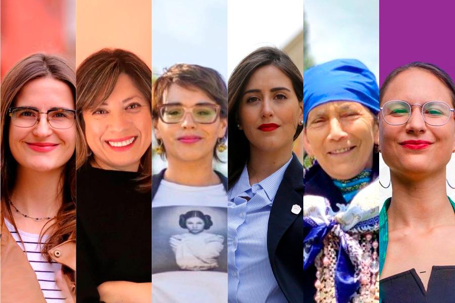 Feministas, dirigentas y defensoras de DD.HH: Los nuevos liderazgos de mujeres que dejan las elecciones