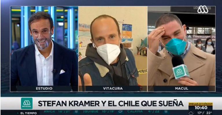 VIDEO| Stefan Kramer sorprende en vivo a Rodrigo Sepúlveda y lo imita mientras cumplía labor de vocal de mesa