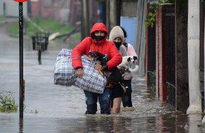 Sistema frontal causa estragos en el sur del país: Onemi emite alerta de evacuación por celular en Panguipulli