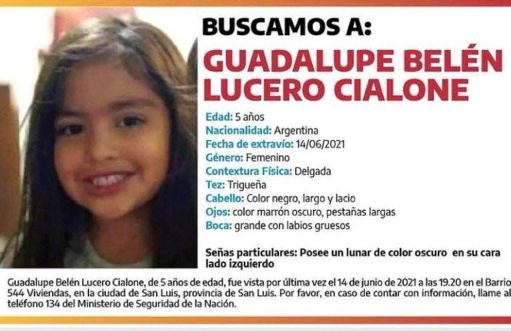 La desaparición de la pequeña Guadalupe Lucero, de cinco años, mantiene en vilo a provincia argentina