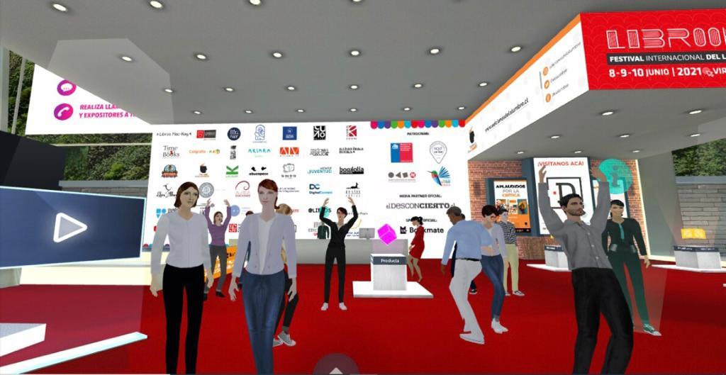 Librook cierra con exitosa convocatoria y se instala como la primera feria internacional del libro virtual con avatar