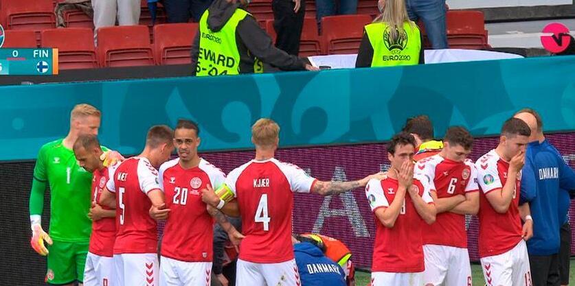 Eriksen se desploma en partido entre Dinamarca y Finlandia: Compañeros y público desconsolados