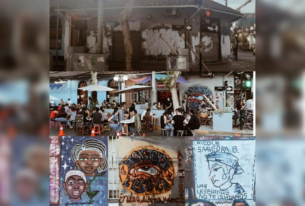 Vandalizan bar LGBTIQ+: Desconocidos tapan con pintura rostros de mujeres asesinadas