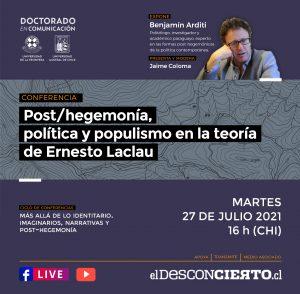 Post-hegemonía, política y populismo en la teoría de Ernesto Laclau