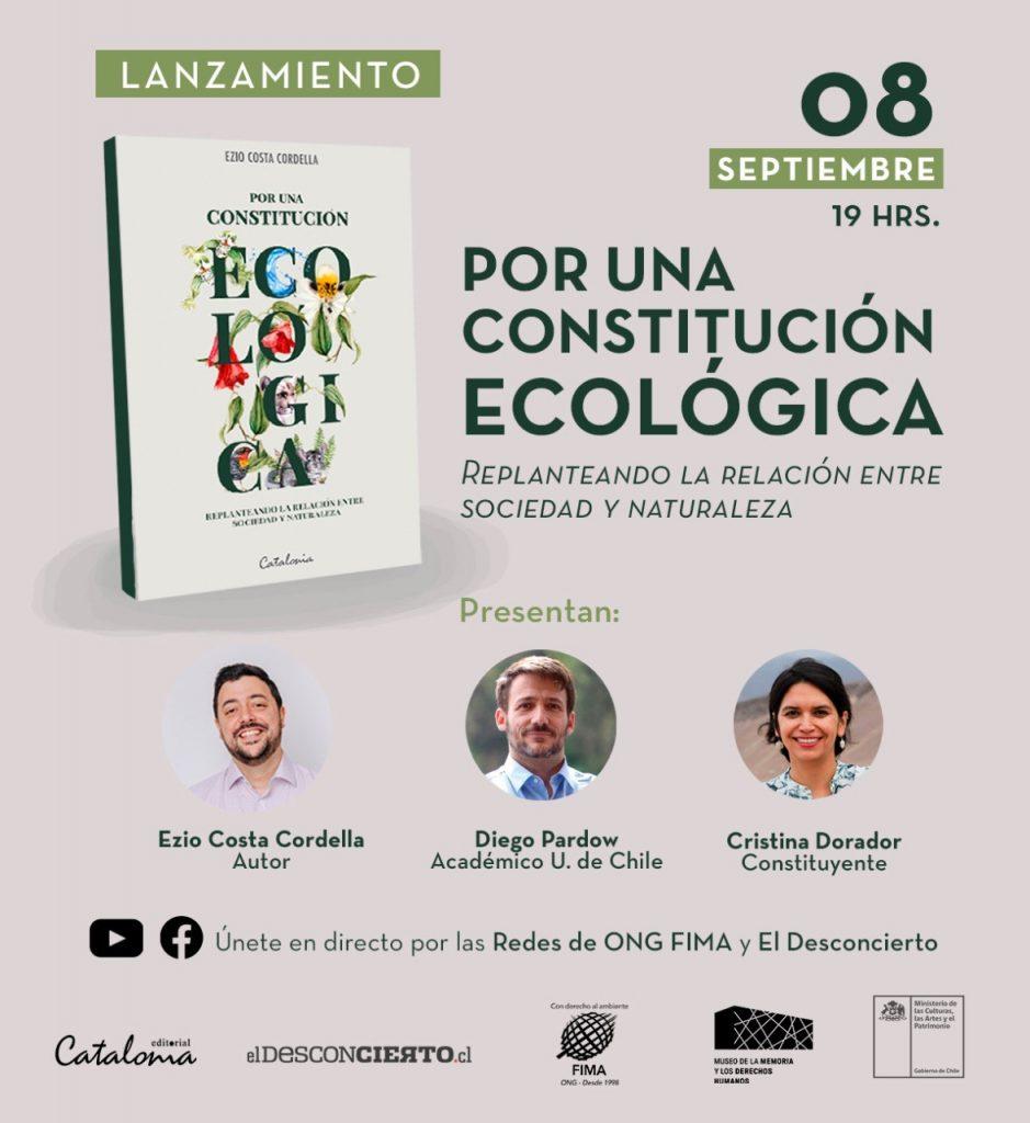"""Nuevo aporte al debate constitucional: lanzan libro """"Por una Constitución Ecológica"""""""