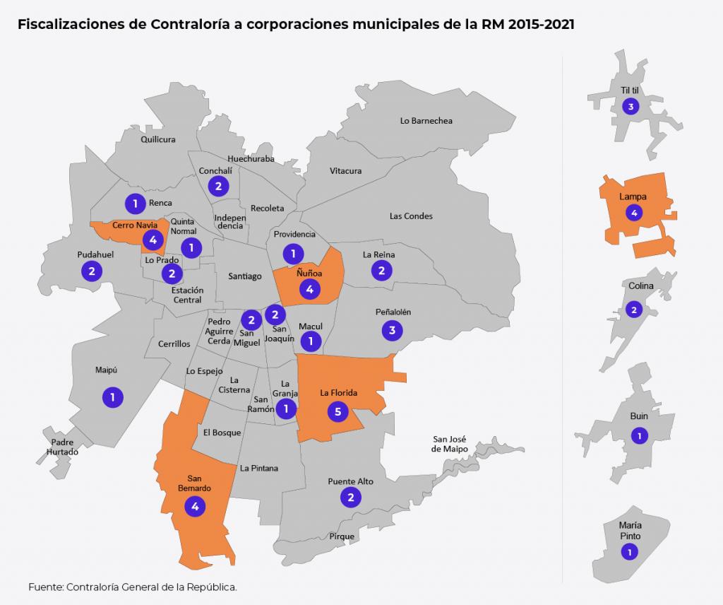 Mapa Fiscalizaciones Contraloría
