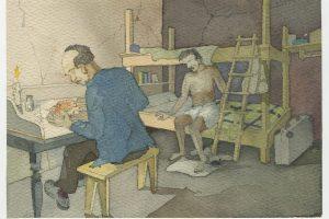 """""""Dibujos en prisión"""": UMCE y Museo de la Memoria inauguran exposición con creaciones de prisioneros en la dictadura"""