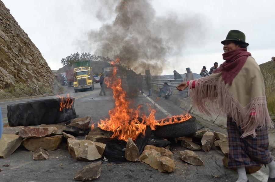 Reformas, alza de combustibles y Pandora motivan jornada de protestas en Ecuador