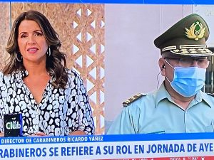 """VIDEO  Feroz discusión al aire entre Monserrat Álvarez y general Yáñez: """"Le pido respeto"""""""
