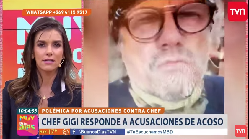VIDEO| «Este movimiento feminista se ha descontrolado»: La agresiva defensa del chef Gigi en matinal de TVN